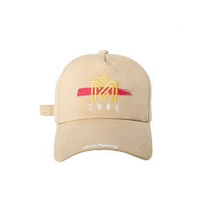 M.O.M.G BRUSH LOGO BALL CAP / BEIGE