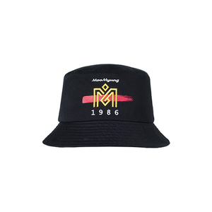 M.O.M.G BRUSH LOGO BUCKET HAT / BLACK