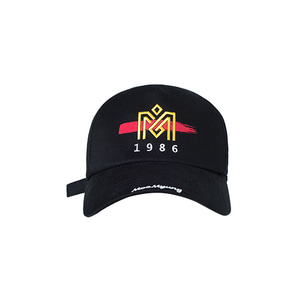M.O.M.G BRUSH LOGO BALL CAP / BLACK