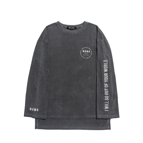 M.O.M.G VINTAGE PIGMENT LONG SLEEVE T / DUST