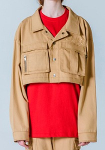 M.O.M.G OVER CROP SHORT JACKET / BEIGE
