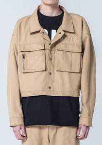 M.O.M.G OVER CROP JACKET / BEIGE