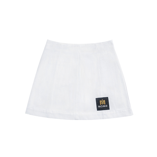 M.O.M.G BASIC MINI SKIRT / WHITE