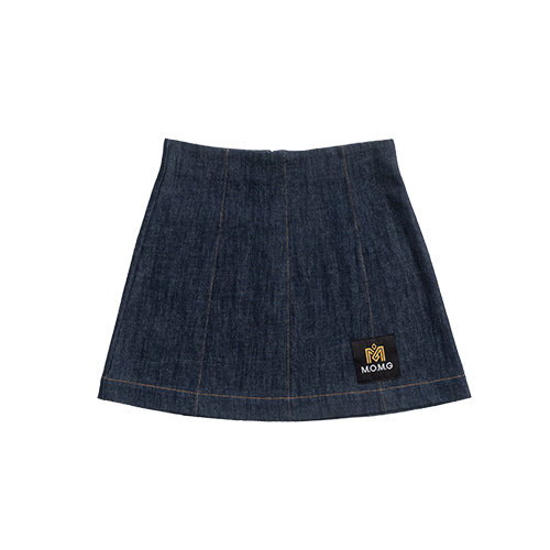 M.O.M.G BASIC MINI SKIRT / NAVY BLUE DANIM