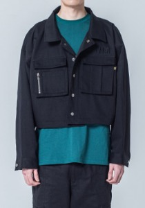 M.O.M.G OVER CROP JACKET / BLACK