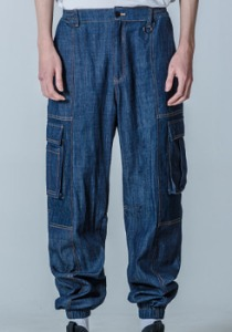 M.O.M.G OVER JOGGER PANTS / NAVY BLUE DENIM