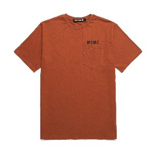 M.O.M.G BASIC POCKET T / BROWN