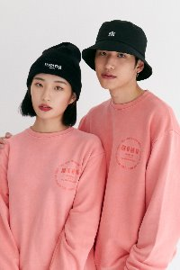 M.O.M.G VINTAGE PIGMENT SWEAT SHIRT T / PEACH